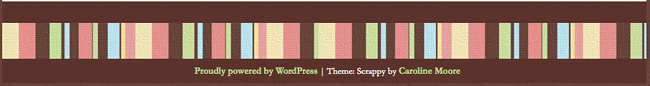 WordPress Scrappy footer