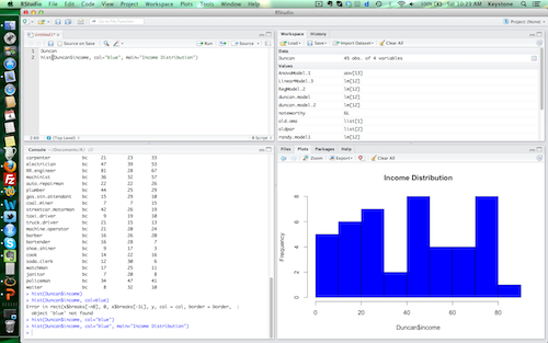 Getting Started Using R, Part 1:  RStudio